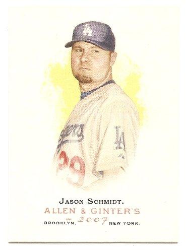 Jason Schmidt 2007 Topps Allen & Ginter Short Print (SP) Los Angeles Dodgers Card #130