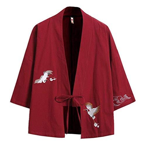 Ricamate Ricamate 3 Da Maniche Maniche Maniche Cerniera Giacca Saoye Maniche 4 Uomo Kimono Fashion Da Winered Maniche Con Giovane Uomo Aperta Con A Corte nU0vF7qU6