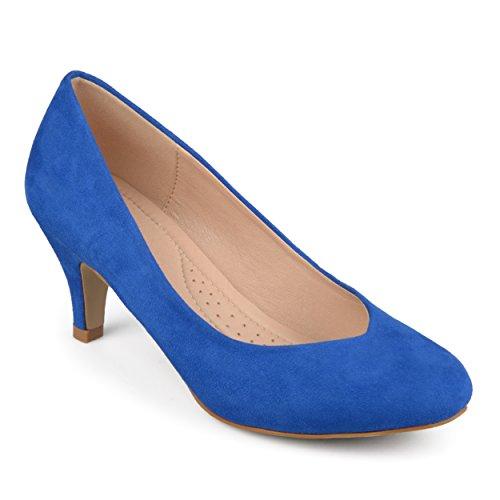 Journee Collection Femme Confort Classique Semelle Bout Rond Talons Bleu