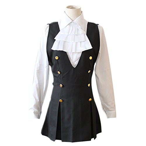 Inu X Boku Ss Shirakiin Ririchiyo Cosplay Costume (Mtxc Women's Inu x Boku SS Cosplay costume Ririchiyo Shirakiin School Uniform Size Small Black)