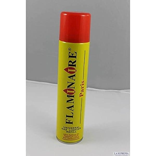 Carga Gas Butano para mecheros Flaminaire 300 ml con adaptador universal: Amazon.es: Salud y cuidado personal