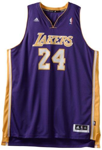 6d7a90bf463 NBA Men s Los Angeles Lakers Kobe Bryant Revolution 30 Road Swingman Jersey  H Size (Purple