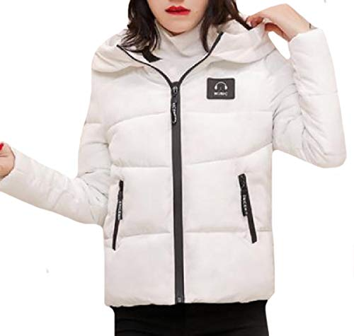 with Jacket Suede Plus Women Quilted Thickening White Size Howme Hood 7Sq0Y6w7