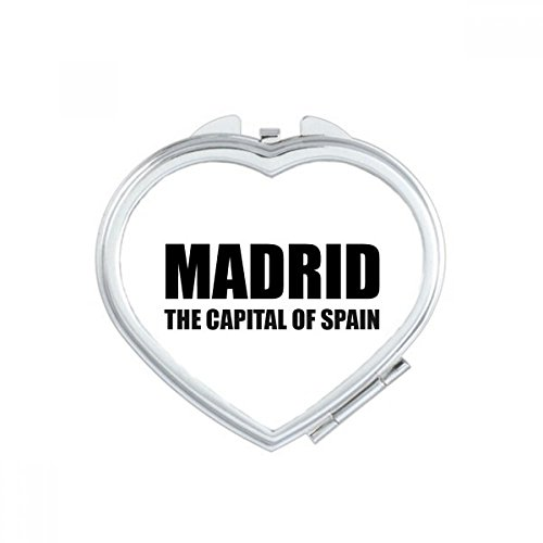 DIYthinker Madrid The Capital Of Spain Heart Compact Makeup Mirror Portable Cute Hand Pocket Mirrors Gift by DIYthinker