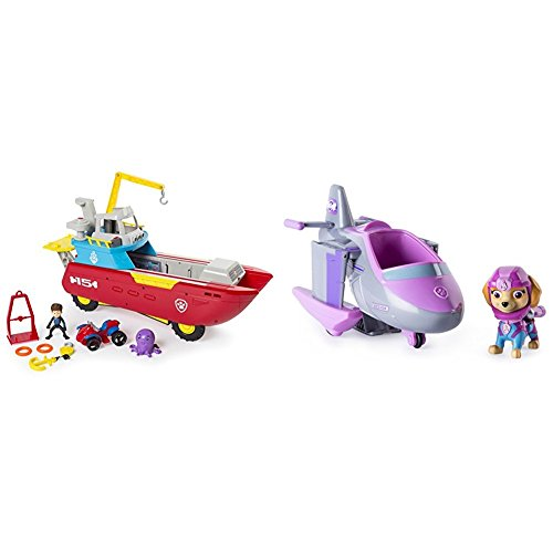 ller Transforming Vehicle with Lights and Sounds with Paw Patrol Skye's Transforming Sea Patrol Vehicle Bundle ()