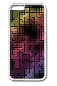 Abstract multicolor Custom iphone 6 plus Case Cover Polycarbonate Transparent