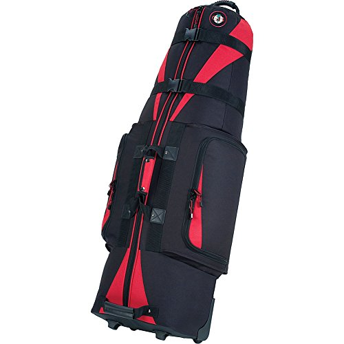 Golf Travel Bags Unisex Caravan 3.0 Bag, Black with Red Trim ()