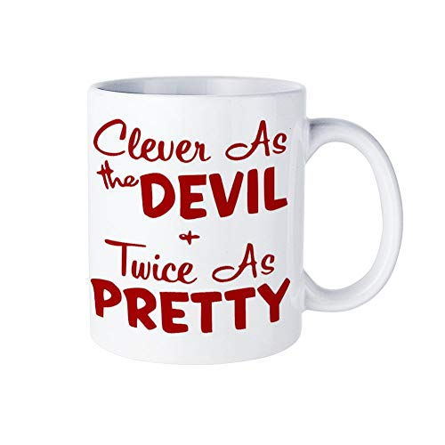 KISKISTONITE Cleaver as the Devil Gift for Him Her,Birthday Gifts,11 Ounces Funny Coffee or Tea - Chaos 038