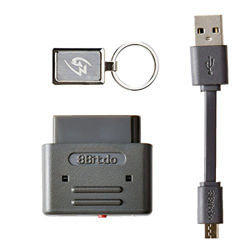 Gam3Gear 8Bitdo PS3 Dualshock 3 PS4 Dualshock 4 Wiimote Wii U Pro Controller to SNES SFC Bluetooth Wireless Gaming Retro Receiver with Keychain