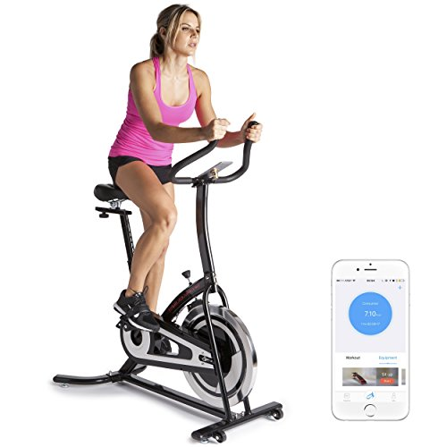 Fitbill Smart Exercise Bike w/ BlueTooth Scale - Upright Indoor Spin bike w/ Fitness App