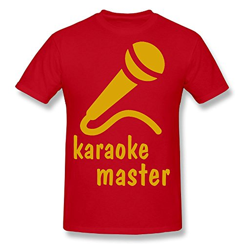 Hot Sale T Shirt Microphones Unique Printed Short Sleeve T-shirt Red - Warehouse Christi Corpus Texas Men's