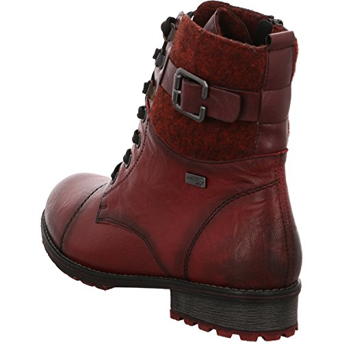 Femme rot Bottes Stiefelette komb pour Remonte fna4x0nw
