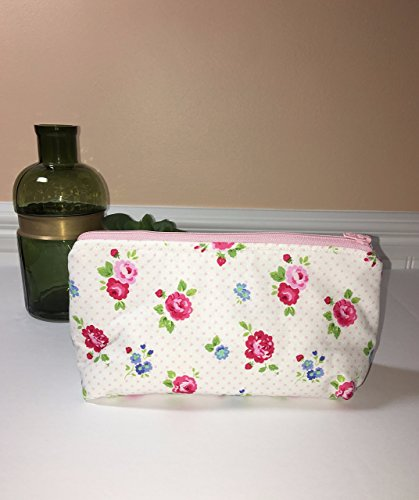 Medium Size Roses Zipper Pouch, Cosmetic Bag, Travel Pouch