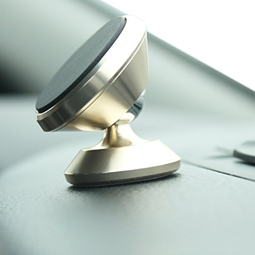 INDUSTRIAL GRADE GRYP Magnetic Car Mount and Truck Phone and Tablet Mount. Universal Fit for ALL models. 360 Rotation and Full Tilt. 100% and includes ELD HOS LOGBOOK (Light Gold)