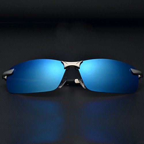 UV Métal Sunglasses Femmes Hommes Lentille Bleu Aviateur Lunettes Soleil LINNUO Cadre Polarisées Protection Eyewear Retro de 1O6wnzq