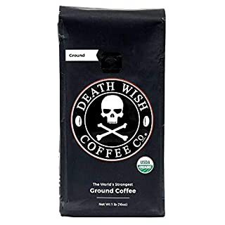 Death Wish Ground Coffee, The World's Strongest Coffee, Fair Trade and USDA Certified Organic, 16 Ounce (B006CQ1ZHI) | Amazon price tracker / tracking, Amazon price history charts, Amazon price watches, Amazon price drop alerts