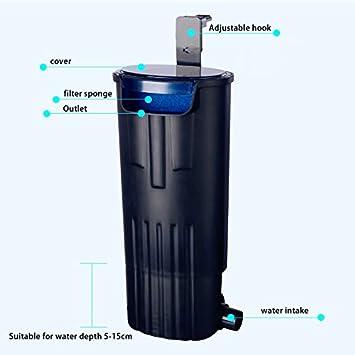 LONDAFISH Filtro sumergible mudo del agua del filtro de la tortuga para la filtración del tanque/del acuario 600L/H de la tortuga: Amazon.es: Productos para ...