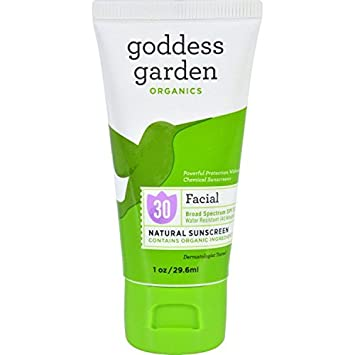 Goddess Garden Sunny Face Natural Sunscreen SPF 30 3.4 oz.(pack of 1) 3 Pack - Sally Hansen Cuticle Massage Cream with Apricot Oil [2245], 0.4 oz