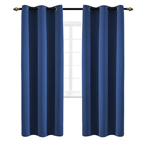 84l Panel (Yakamok Room Darkening Curtains Grommet Curtains Thermal Insulated Blackout Curtains with 2 Tie Backs Included 42W x 84L inch Navy 2 Panels)