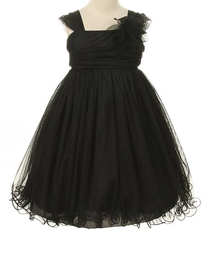 - Kids Dream Little Girls' Special Occasion Double Layer Mesh Dress, 6, Black