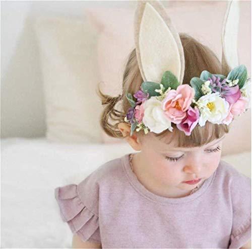 LOSOUL Women Girls Flower Headbands Crown Wedding Bridal Hair Wreath Floral Headband Garland ()