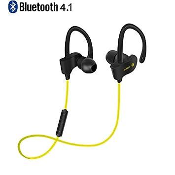 XGODY S4 - Auriculares inalámbricos con Bluetooth y micrófono IPX7 impermeables HD estéreo, resistentes al sudor, para gimnasio, correr, batería larga, ...