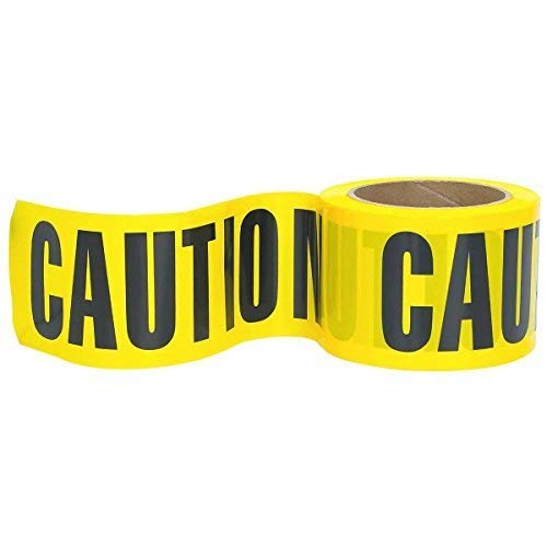 (Troy Safety High-Visibility Yellow Caution Barricade Tape 3