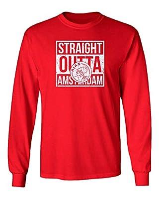 Spark Apparel New Soccer Straight Outta Amsterdam Long Sleeve T-Shirt