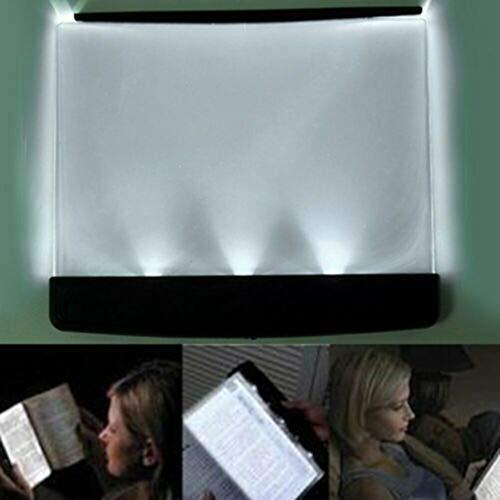 - Akabsh Flat Reading Light CreativeLEDBook Light Paperback Book Light Wedge Eyes Protect Panel Book Reading Lamp Vision