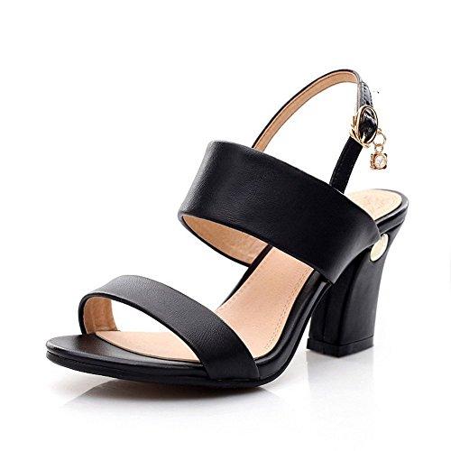 Adee Womens Metalornament Formal Leather Sandals Black LP0WENfq1