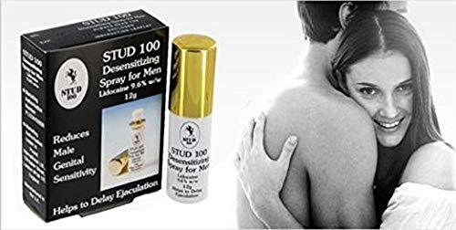 STUD 100 Gold cap Desensitizing Men Delay Spray Premature Ejaculation Prolong Sex (And) The Punisher Pill (Super Combo) Plus Love Potion Pen