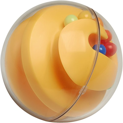 Haba Clutching Toy Rainbow Swirl Plastic Rattling Ball, (Rattling Toy)