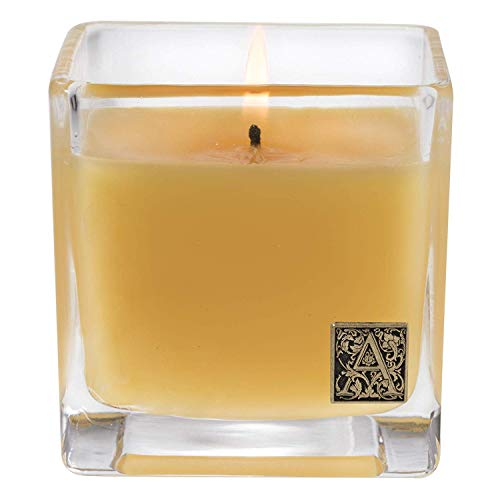 Pineapple Pillar - Aromatique Glass Cube Candle, Agave Pineapple, 12 Ounces