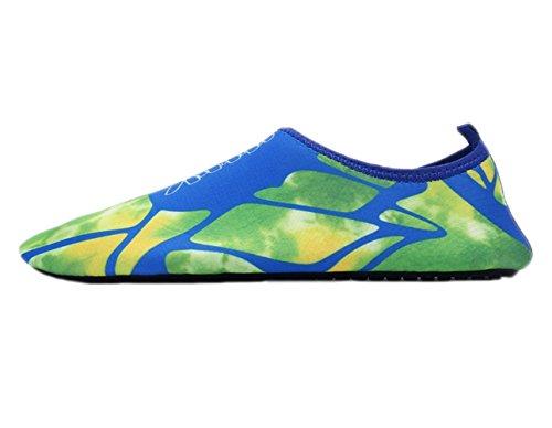 Chaussures Deau Vague Piscine Plage Nager Aqua Chaussettes Yoga Mens Femmes Slip Pour Santimon Caractère Bleu