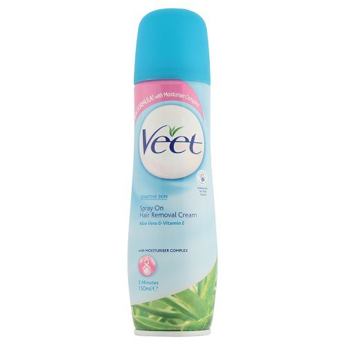 Veet Spray On Hair Removal Cream Sensitive Skin With Aloe