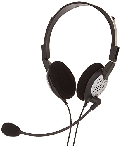 Andrea Electronics C1-1022600-1 model NC-185 VM USB High Fidelity Stereo USB Computer Headset with Noise Canceling Microphone and Volume/Mute Controls ()