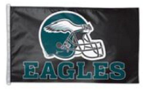 Wincraft NFL 3' X 5' Helmet Design Premium Flag with D-Rings (3' X 5', Philadelphia Eagles)