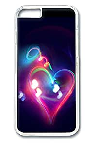 Halo Light Heart Polycarbonate Hard Case Cover for iphone 6 plus 5.5inch Transparent