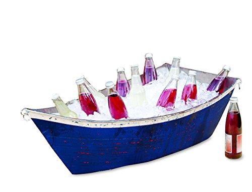 Plow & Hearth 52815 Handmade Recycled Metal Boat Planter (Recycled Planters)