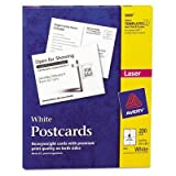 Avery - Postcards For Laser Printers 4-1/4 X 5-1/2 White 4/Sheet 200/Box ''Product Category: Paper & Printable Media/Cards & Card Stock''