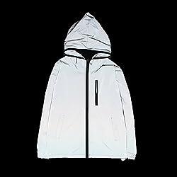 Fangfei® 3m Scotchlite Reflective Coat Hooded Windbreaker Fashion Jacket (L)
