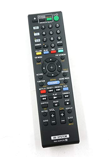 General Replacement remote control for Sony Bdv-n8100 Bdv-n8100w Rm-adp076 Hbd-n7100w RM-ADP076 Blu- ray Disc DVD Home Theater Av System (Renewed) (N8100w Bdv Sony)