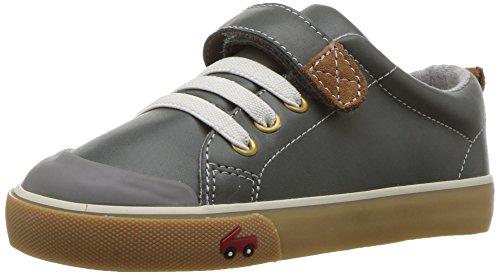 See Kai Run Kids' Stevie Ii Sneaker, Gray Leather, 13.5 M Little (Gray Leather Footwear)