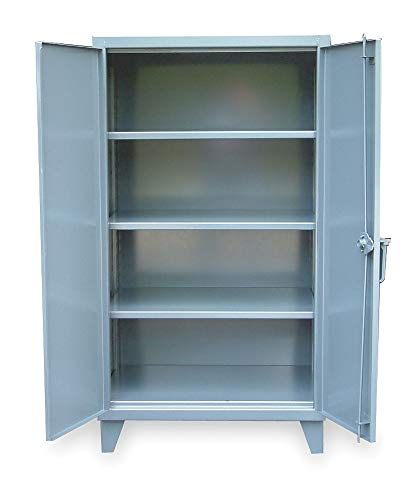 "Strong Hold Storage Cabinet, Dark Gray, 66"" Overall Height, Assembled - 45-243"