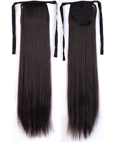 """18-27"""" Long Straight Curly Bingding Tie up Ponytails Clip in"""