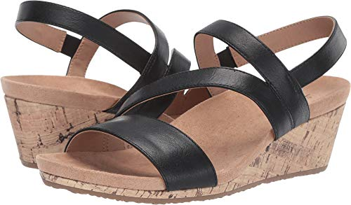 - LifeStride Women's, Milly Wedge Heel Sandals Black 9 M
