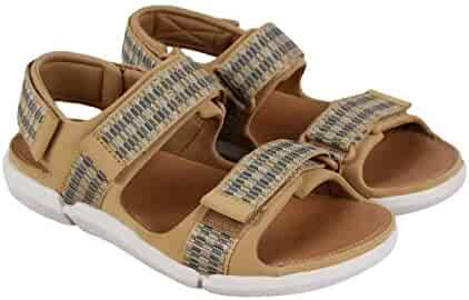 83ded99a6f23 CLARKS Tri Sand Spark Mens Tan Leather Sport Sandals Strap Sandals Shoes