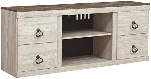 Signature Design by means of Ashley Willowton TV Stand, Whitewash