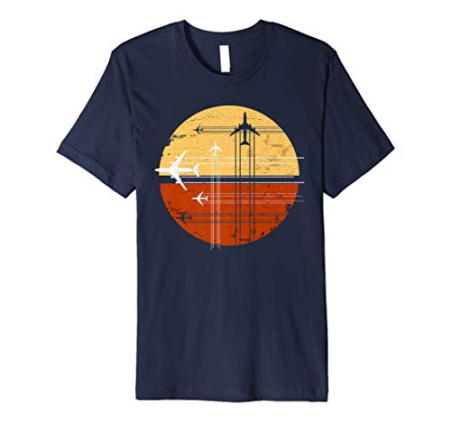747 Sunrise Vintage Aircraft Retro Art AvGeek Pilot T-Shirt
