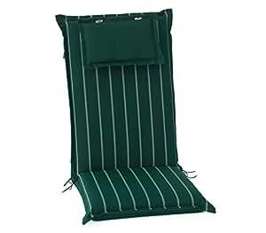 2unidades hambiente silla para jardín con respaldo alto aprox. 120x 50cm, lavable, con cremallera ve74